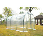 Polytunnel Greenhouse Transparent Clear Dome PVC Green Grow House Steel Frame