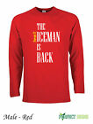 KIMI RAIKKONEN THE ICEMAN IS BACK FERRARI  Long Sleeve T-Shirt  S-XXL P - Red