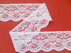 "Pretty White Nottingham Lace 7cm/2.5"" wd  Craft Trim"