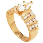 New 18ct Gold Filled Ladies Elegant Cubic Zirconia  Oval Cut Engagement  Ring