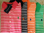 NWT Ralph Lauren T-shirt green orange white pink navy striped pony polo women