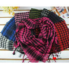 Ladies Womens Girls Mens Scarf Cotton Square Houndstooth Large Scarves Unisex