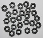 25 BLACK Nylon Plastic Hex Hexagon Full Nuts M3 M4 M5 M6 or M8 ISO 4032