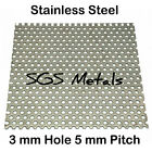 Stainless Steel 3.0 x 5.0R Perforated Sheet 304  Popular Sizes Guillotine Cut
