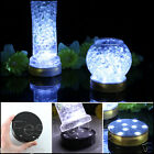 LED BATTERY OPERATED VASE BASE LIGHT UP WEDDING FLORAL ILLUMINATOR WHITE & BLACK