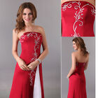Vintage SATIN Sexy Women Evening Formal Prom Gown Bridesmaid Wedding Long Dress