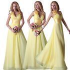 SEXY V-neck Prom Dress Bridesmaid Cocktail Party Evening Long Wedding Dress Gown
