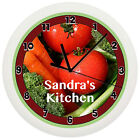KITCHEN VEGETABLE WALL CLOCK PERSONALIZED GIFT WALL DECOR TOMATO FRUIT CARROT