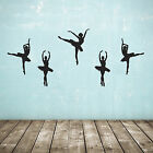 Set of 5 Ballet Dancer / Ballerina Wall Stickers - Several Colours and Sizes