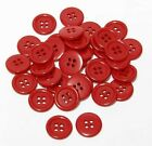 "30mm 1-1/4"" sz 48 plastic 4 hole coat suit shirt red 100-1000 buttons wholesale"