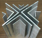 "1 Mtr x Extruded Aluminium Equal Angle 1000mm Lengths sizes from 1/2"" to 4"""