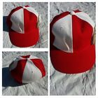 Mens Womens Red White baseball Cap Hat Two Tone Red fitted baseball cap 7 1/4
