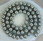 6mm Natural Pyrite Round Beads 15.5""