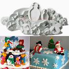7 Series Fondant Cake Sugarcraft Decorating Snowflake Plunger Cutters Tools Mold