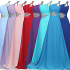 Women'S Long Chiffon Party Bridesmaid Evening Prom Ball Cocktail Dress Gown 6-20