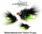 NEW!! Fly Fishing WeedGuard DIVING BB FRITZ VIVA Weed Resistant Trout Flies