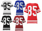 NEW LADIES OVERSIZED AMERICAN VARSITY 85 SPORTS LUXE FOOTBALL T SHIRT SIZE 8-14