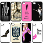 Ballet Girl Fashion Style Hard Plastic Case Cover For iPhone 4 4S 5 5G 5S 5C
