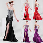 3Color Sexy Womens Bead Long Formal Gowns Evening Prom Cocktail Party Maxi Dress