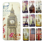 Vintage Iron Eiffel Tower Pattern Dustproof Case Cover Skin For Apple iPhone 5C