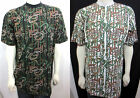 Men's fashion T-shirt white / black snakes multi color size XL 2XL 3XL 4XL
