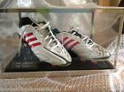 SIGNED PAIR FOOTBALL BOOTS - GLASS TOP DISPLAY CASE ONLY - NEW DESIGN