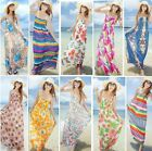 Sexy Women Summer Boho Floral Halter Long Maxi Evening Party Dress Beach Dresses