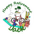 Personalised Retirement Cake Toppers, 10 Options on Icing or Rice Paper