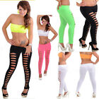 New European Super Sexy Candy Color Skiny Slim Hollow Pants Womens Leggings Hot