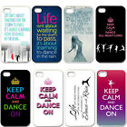 Life Quotes Hard Plastic For Apple iPhone 4 4S 5 5S 5C Back Cover Case
