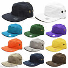 NEW PLAIN 5 PANEL FITTED CAP CITY HUNTER CLASSIC BASEBALL CAPS FLAT PEAK HAT