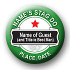 Personalised Heineken Style Stag Night Pin Badges - 58mm
