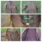 Mens Vintage Brown Long Sleeve Leather Sport Coat Blazer Sears Sportswear 44R