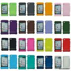 For iPod Touch 4 4th GEN Add-On Rocker Silicone Rubber Skin Case Cover