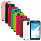 Matte TPU PU Leather Battery Back Case Cover for Samsung Galaxy Note 3 N9000