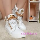 WOMENS LEATHER Sneaker WEDGE HEEL BOOTS LADIES GIRLS TRAINERS SHOES MENS UK2-11