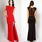 Trendy Women Sexy Elegant Slim Long Maxi Lace Gown Evening Cocktail Party Dress