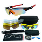 Cycling Riding Bicycle Sports Protective Goggle Sun Glasses UV400 With 5 lens