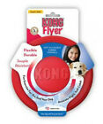 KONG FLYER : Sm/Lg Rubber Flexible Soft Catch Fetch Play Frisbee Disc Dog Toy