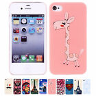 Phone Painted Various Pattern Hard Skin Slim Case Cover for Apple IPhone 4 4S