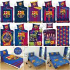 OFFICIAL FC BARCELONA SINGLE DUVET COVERS BEDDING BEDROOM FOOTBALL NEW