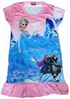 Disney Frozen Elsa Anna Olaf Enfants Filles Jupe Pyjama Robe Girl Dress 3-9 Rose