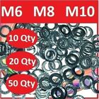 WASHERS STEEL M6  M8  or M10    FLAT PENNY WASHER ZINK PLATED / GALVANISED METAL