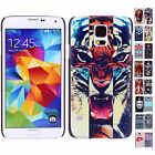 Fit For Samsung Galaxy S5 Slap-Up Patterned PC Snap On Case Hard Back Skin Cover