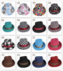 Plaid Boys Fedoras Baby Cap Dicer Top Fedora Hat Fit Infant toddler 2-8 years
