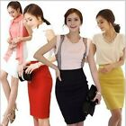 Women's Candy OL Long High Waist Skirts Slim Casual Mini Pencil Skirt Clubwear