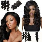 "12""-30"" Body Wave Weaving Remy Brazilian Human Hair Extensions Weft Full Head"