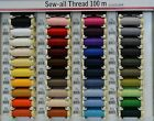 Gutermann Sew-All Thread 100m Spool, 100% Polyester, Select Colour, per spool