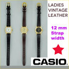 VINTAGE LADIES CASIO LEATHER STRAP WATCH