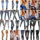 Sexy Womens Leggings/Jeggings tattoo Stretchy jeans look Pants Fit UK Size 6-12